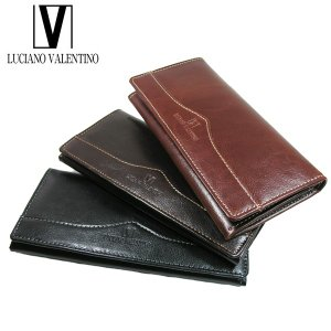 <送料無料>LUCIANO VALENTINO ルチアーノバレンチノ 牛革 本革 ウォレット 長財布 LUV-6001(BK/LBR/DBR)3色|b-house
