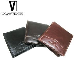 <送料無料>LUCIANO VALENTINO ルチアーノバレンチノ 牛革 本革 ウォレット 2つ折財布 LUV-6002(BK/LBR/DBR)3色|b-house