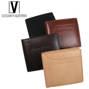 <送料無料>LUCIANO VALENTINO ルチアーノバレンチノ 牛革 本革 ウォレット 2つ折財布 LUV-7004(BK/BR/DBR/BE)4色|b-house