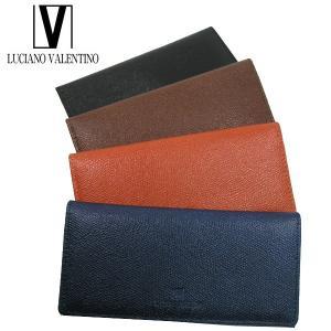 <送料無料>LUCIANO VALENTINO ルチアーノバレンチノ 牛革 本革 ウォレット 長財布 LUV-9001(BK/BR/OR/NV)4色|b-house