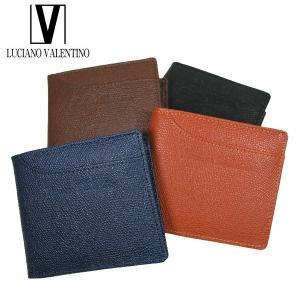 <送料無料>LUCIANO VALENTINO ルチアーノバレンチノ 牛革 本革 ウォレット 2つ折財布 LUV-9004(BK/BR/OR/NV)4色|b-house