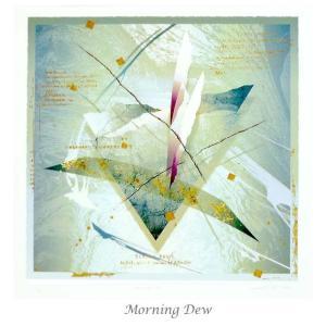 版画家 西川洋一郎 リトグラフ MorningDew-M W61XH61XD2.65cm