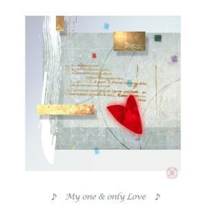 版画家 西川洋一郎 ミクストメディア MyOne&OnlyLove W31.7XH31.7XD2.1...