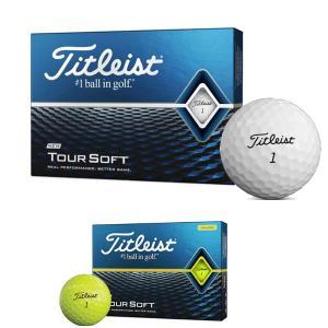 -- 2ダース購入で送料無料 --タイトリスト Titleist ゴルフボール ツアーソフト 1ダース 12球入り TOUR SOFT 2020年モデル【LOGI】 美-健康ゴルフ PayPayモール店