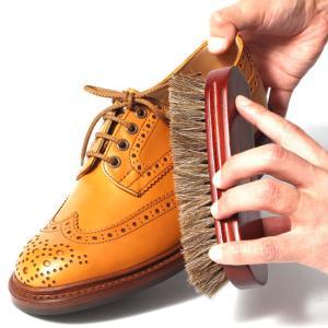 靴磨き ブラシ ブラッシング ホコリ取り 馬毛ブラシ...