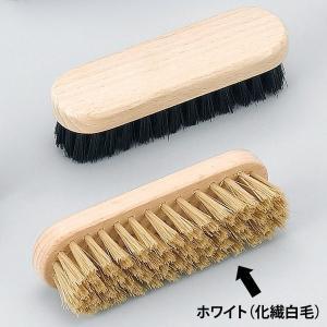 靴磨きブラシ M.MOWBRAY モゥブレィ モウブレイ ミニブラシ ホワイト(化繊白毛)
