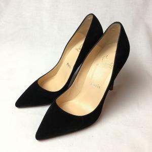 レディース 靴 CHRISTIAN LOUBOUTIN ルブタン スエード パンプス 黒 35.5 【中古】|b-living