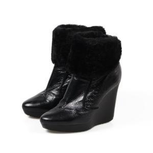 ジミーチュウ JIMMY CHOO ショート ブーツ 黒 38.5 レディース 靴  【中古】|b-living