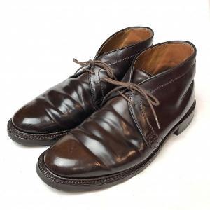 オールデン ALDEN コードバン チャッカ ブーツ 8 メンズ 靴  【中古】
