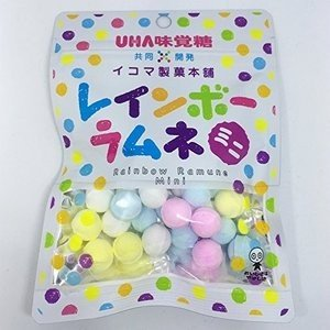 ネコポス発送 送料無料 ★味覚糖 レインボーラムネ ミニ 40g 6個★ ペイペイ消化