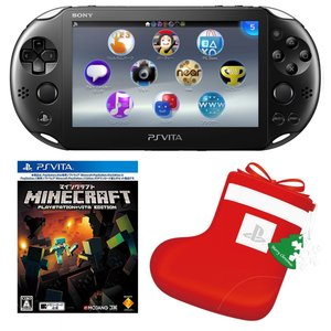 PlayStation Vita Wi-Fiモデル ブラック (PCH-2000ZA11) + Minecraft: PlayStation Vita Edition +「デカくつした」