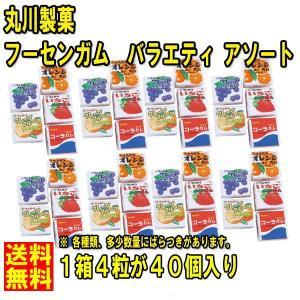 送料無料  ★丸川製菓 フーセンガム バラエティ 4粒 x40個 アソート★ ポイント 消化 480円