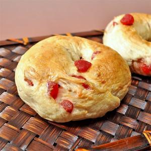 苺のベーグル 天然酵母パン|b-parfun