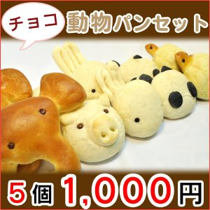 動物パンセット チョコレート入り ギフト 誕生日プレゼント 詰め合わせ|b-parfun
