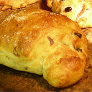 よもぎと黒豆のリュスティック 食事パン|b-parfun
