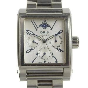03楽市 本物 ORIS オリス レクタンギュラー ムーンフェイズ メンズ オートマ 腕時計 752...
