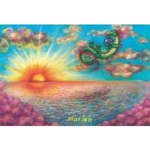 Mariko Sejima 「春の海に遊ぶ竜神」 ポストカード|b-shopping