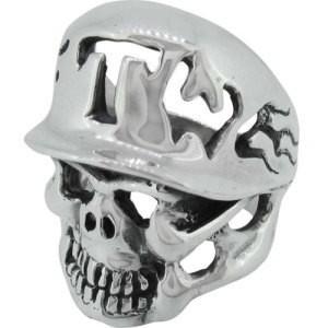 トラヴィスワーカー(TRAVIS WALKER) オールドFTWヘルメットスカルシルバーリング(指輪)...