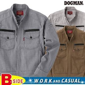 ドッグマン DOGMAN 長袖ジャンバー 伝統的なパターンの千鳥格子のクラシカルデザイン 8127永遠の定番、芯のある服 DOGMAN  オシャレな作業服|b-side
