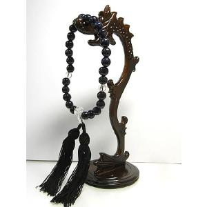 数珠 ブルーサンドストーンと水晶の念珠 男女共用 仏具 仏教|b-soft