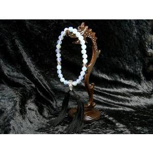 数珠 オパール 人工 と水晶の念珠 男女共用 仏具 仏教|b-soft