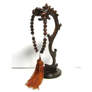 数珠 レッドタイガーアイと水晶の念珠 男女共用 仏具 仏教|b-soft