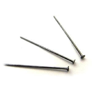 Tピン アクセサリーパーツ 約0.5×25mm ガンメタ 10本セット b-soft