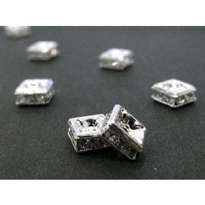 ロンデル アクセサリーパーツ 四角型 古代銀 5mm  10個入り|b-soft