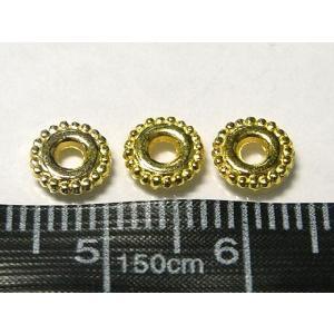 スペーサービーズ アクセサリーパーツ リング 約6mm ゴールド 10個セット販売|b-soft