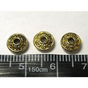 スペーサービーズ アクセサリーパーツ リングゴシック 約6mm 金古美 10個セット販売|b-soft