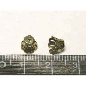 ベルキャップ アクセサリーパーツ 座金 真鍮古美 約6mm  10個セット b-soft