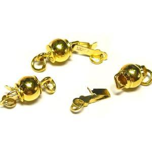 クラスプ  留め具  アクセサリーパーツ ラウンド ケトル ゴールド 約13×6mm  1個セット|b-soft