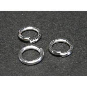 丸カン アクセサリーパーツ 古代銀 約0.8×6mm  10個セット|b-soft