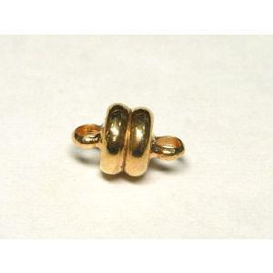 マグネットクラスプ ボタン ピンクゴールド 約10×6mm 1セット販売 磁石 留め具 とめぐ アクセサリーパーツ b-soft
