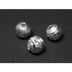 丸型スペーサー クロスライン 古代銀 約6mm 10個セット|b-soft