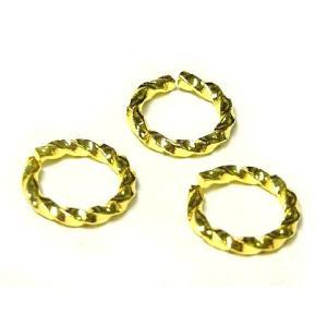 丸カン アクセサリーパーツ スパイラル ゴールド 約8mm  10個セット販売 b-soft