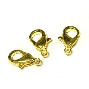 カニカン アクセサリーパーツ シンプル 約12×6mm ゴールド  3個セット販売|b-soft