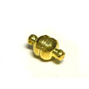 マグネットクラスプ アクセサリーパーツ シンプルラウンド ゴールド 約13×7mm  1個販売|b-soft