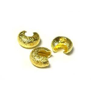 カシメ玉 つぶし玉 カバー アクセサリーパーツ ゴールド 約3mm  10個セット b-soft