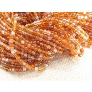 カーネリアン ラウンド 連販売 約2mm 天然石染色|b-soft