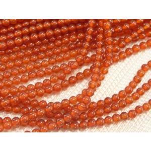 赤瑪瑙  カーネリアン  ラウンド 連販売 約2mm 天然石染色|b-soft