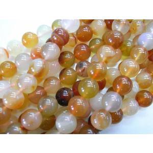カーネリアン ラウンド 連販売 約10mm 天然石染色|b-soft