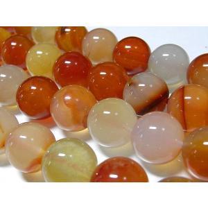 カーネリアン ラウンド 連販売 約12mm 天然石染色|b-soft