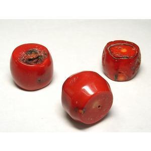 送料無料 サンゴ 珊瑚 連販売 真紅 太鼓型 約20-30×28-30mm 染色 アクセサリーパーツ パワーストーン ビーズ さんご サンゴ コーラル 山珊瑚 海竹|b-soft