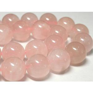 ローズクォーツ ラウンド 連販売 約14mm 天然石ビーズ アクセサリーパーツ パワーストーン ピンク|b-soft