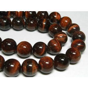 レッドタイガーアイ ラウンド 約10mm 連販売 天然石 アクセサリーパーツ パワーストーン 赤虎目石|b-soft