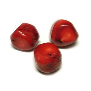 珊瑚 染色 真紅 ブロック 約20mm 約42cm 連販売 約20粒 ビーズ さんご サンゴ コーラル 山珊瑚 海竹 ハンドメイドアクセサリーパーツ|b-soft