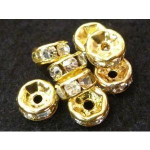 ロンデル アクセサリーパーツ 平型タイプ ゴールド 約6mm 約50個セット b-soft