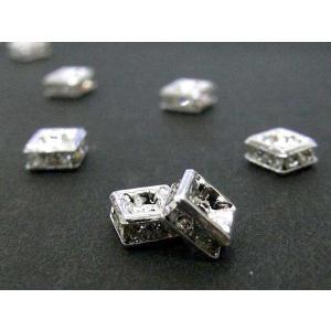 ロンデル アクセサリーパーツ 四角型 古代銀 5mm  約100個入り|b-soft
