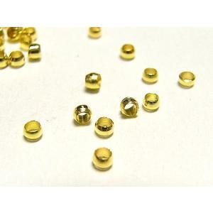 かしめ玉  つぶし玉  アクセサリーパーツ ゴールド 約2mm  約1000個入り b-soft